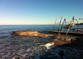 Punta Salvore - il mare d'inverno