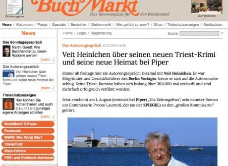 BuchMarkt – Intervista